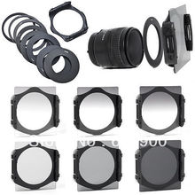 100 GUARANTEE Full Graduated Filter Set 52mm 58mm 72mm 77mm Adapter Ring For Cokin P