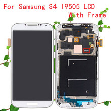 New S4 i9505 LCD for Samsung Galaxy S4 LCD Display Touch Screen Digitizer i9505 Frame Assembly Replacement Free Shipping