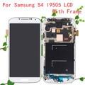 Novo s4 i9505 display lcd para samsung galaxy s4 lcd i9505 digitador da tela de toque substituição assembleia quadro frete grátis