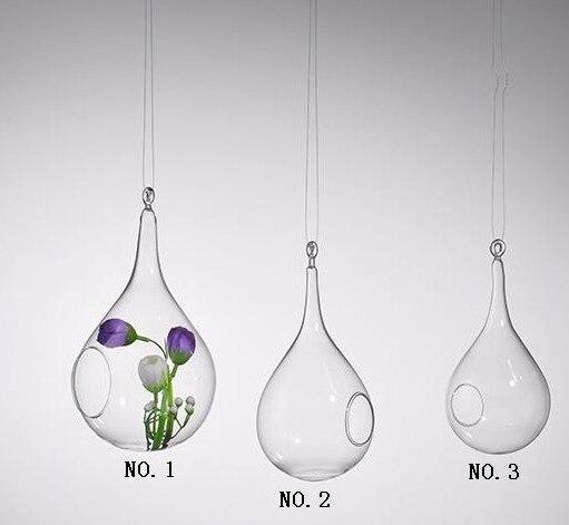 forme de goutte d 39 eau vase suspendu en verre accueil jardin d coration de mariage slzq130. Black Bedroom Furniture Sets. Home Design Ideas