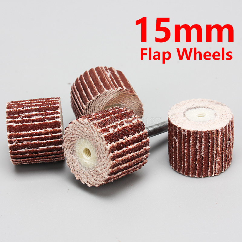1Pcs 15mm Sanding Flap Disc Grinding Wheels Brush Sand Dremel Accessories For Abrasive Grinder Rotary Tools