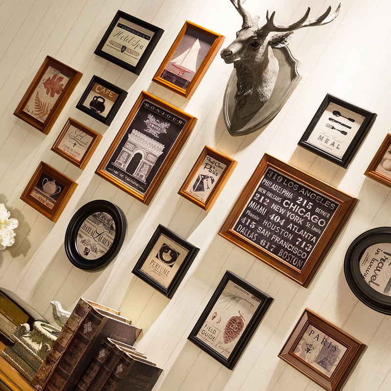 Vintage Photo Frame De Madeira Da Foto Quadros de Alta Qualidade Conjunto de Quadros Decoração de Casa Quadro Da Foto do Retrato Da Parede Quadros Moderne