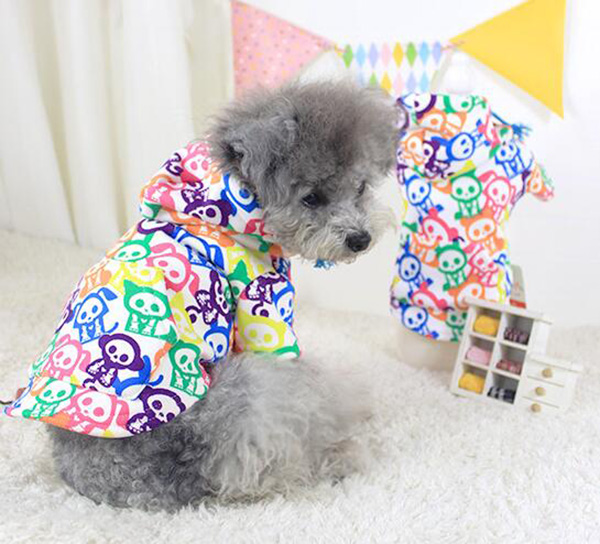 New cool fashion dogs cats colorful hoodies doggy winter warm overcoat puppy jackets pet dog cat coats pets sweaters 1pcs XS-XL