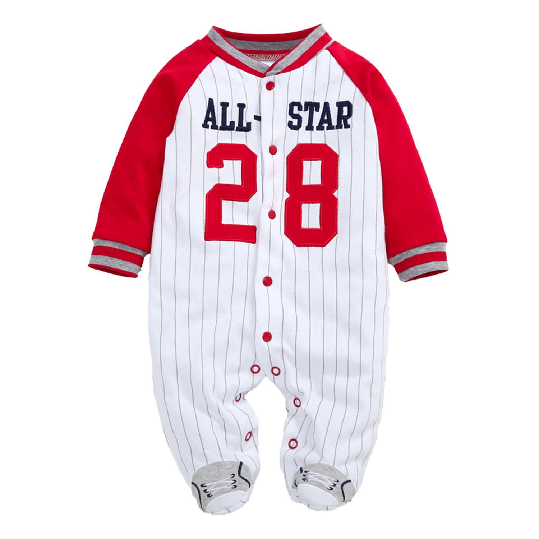 FBIL-Infants and young children cotton bag foot climb clothes leotard climbing clothes out clothes baseball uniform