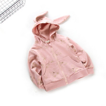 100% cotton baby girls clothes 2017kids autumn jackets for Girls Cardigans rabbit full sleeve Casual baby jackets high qualty