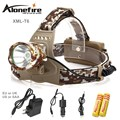 AloneFire HP07 3000LM XM-T6 LED Headlamp Headlight Flashlight Head Lamp Light + 2*18650 battery + charger + Car Charger