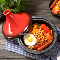 BCTJ27 Household Cast Iron 27cm Enamel Cooking Stew Soup Pot Thickened Flat Base Saucepan Induction Cooker Tajine Clay Pot Rice