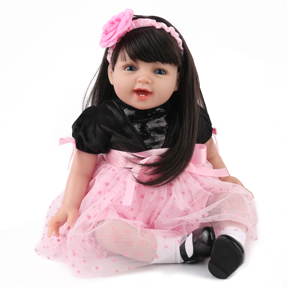 55CM alive soft silicone vinyl reborn toddler bebe doll reborn baby girl cloth body Christmas surprice gifts doll Non-toxic toy55CM alive soft silicone vinyl reborn toddler bebe doll reborn baby girl cloth body Christmas surprice gifts doll Non-toxic toy