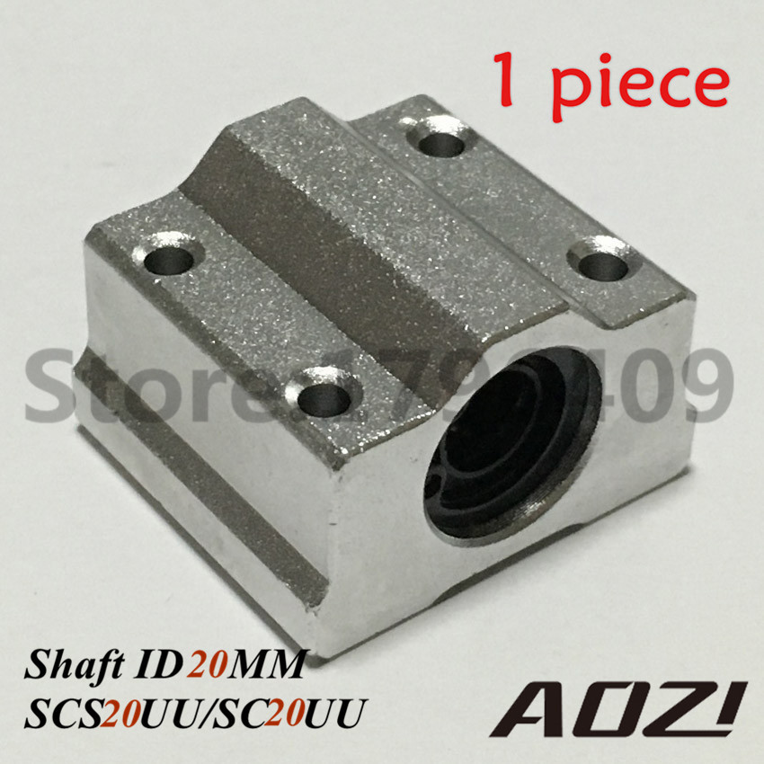 SC20UU SCS20UU 20mm Linear Motion Ball Bearing Slide Bushing Linear Shaft For CNC Router High Precision axk sc8uu scs8uu slide unit block bearing steel linear motion ball bearing slide bushing shaft cnc router diy 3d printer parts