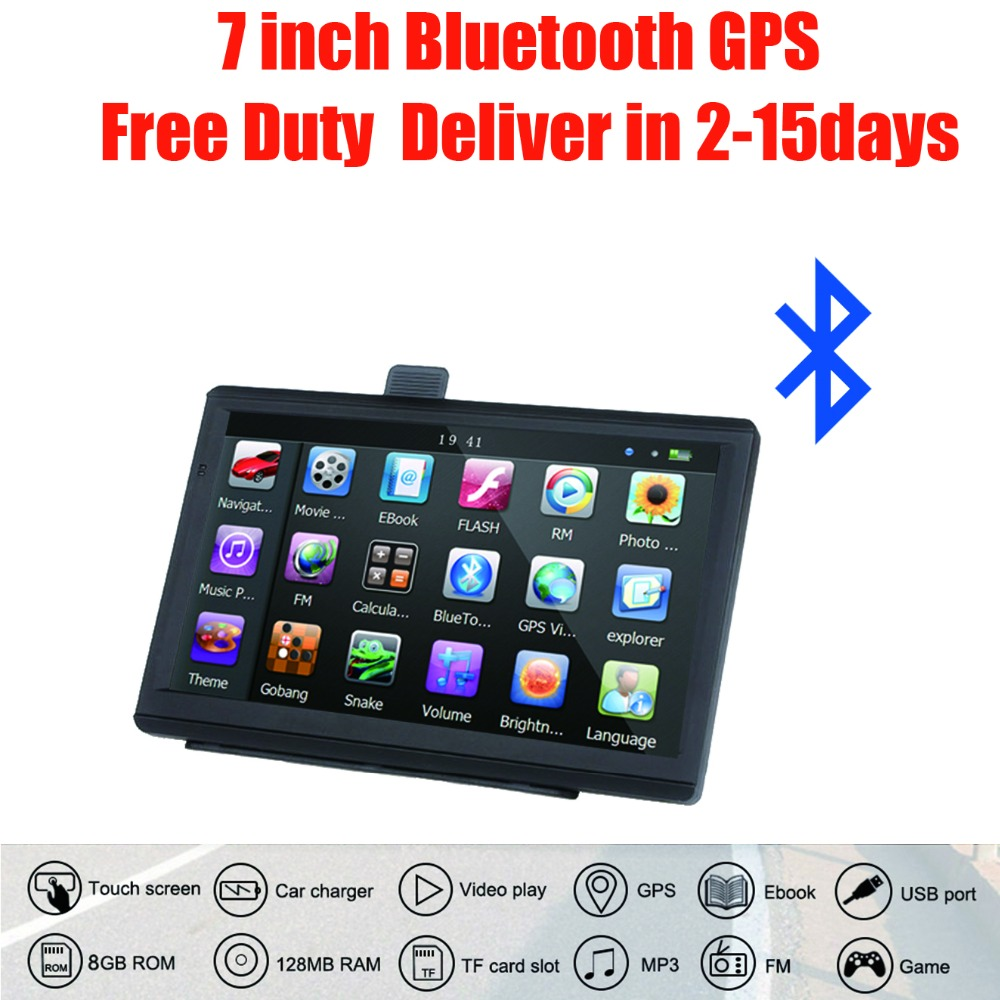 Oriana Car GPS Navigation Sat Nav Bluetooth Europe 7inch FM Map HD AVIN title=
