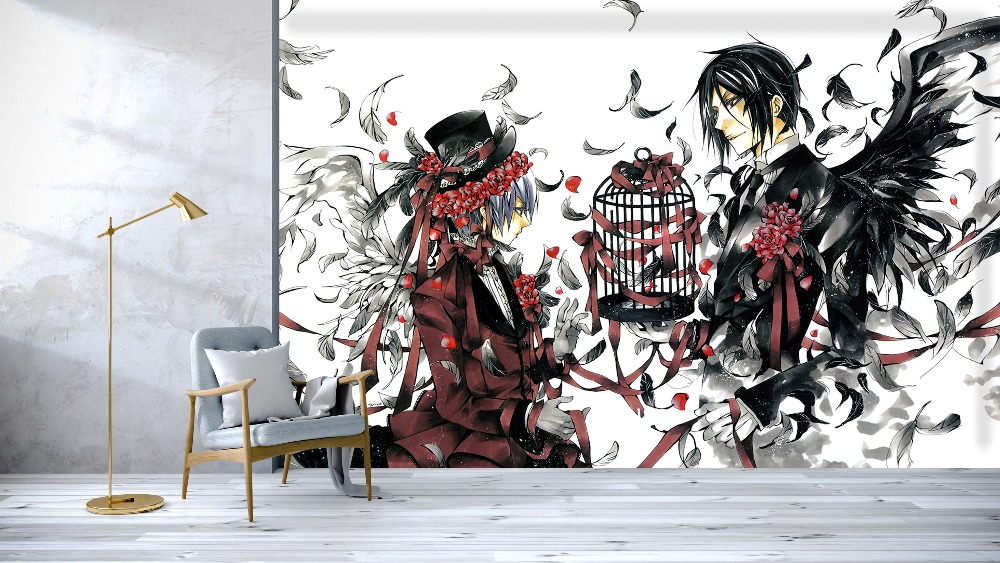 [Self-Adhesive] 3D Demon Black Deacon Transaction 183 Japan Anime Wall Paper Mural Wall Print Decal Wall Murals