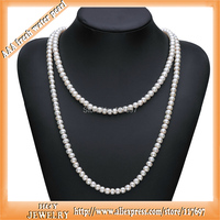 120cm H Y Brand 8 5 9 5mm Nearly Round 100 Genuine Natural Long Freshwater Pearl