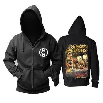 Bloodhoof Municipal Waste The Fatal Feast new zipper hoodie Asian Size