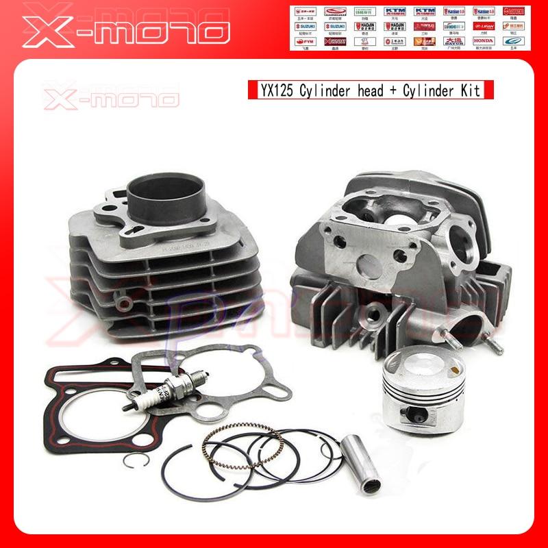 Complete Engine Cylinder Barrel Head Cylinder Piston Kit for YX125 125CC carburetor carb engine for dodge plymouth 318 engine carter c2 bbd barrel new arrival