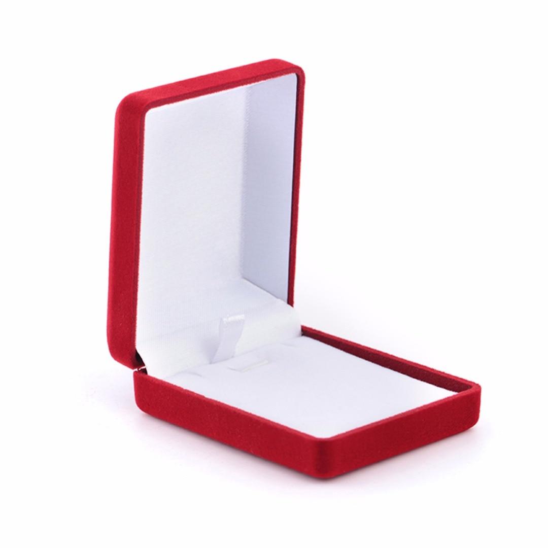 Винтаж держатель ювелирных изделий дисплей коробка для хранения Shellhard красный бархат обручальное кольцо серьги цепочки и ожерелья Модные