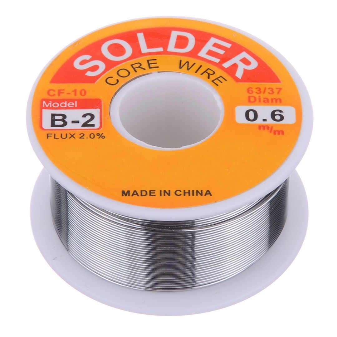 1 لفة 63/37 روزين الأساسية سلك لحام القصدير الرصاص لحام أسلاك الحديد بكرة 50 جرام/100 جرام 0.5 مللي متر/0.6 مللي متر/0.8 مللي متر/1.0 مللي متر/2.0 مللي متر/مللي متر