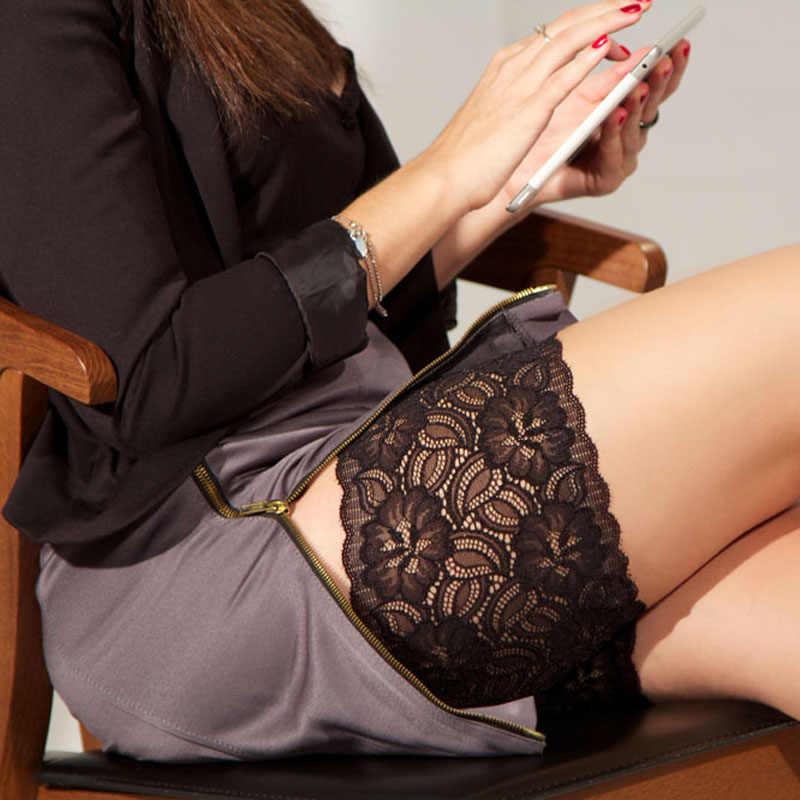 Bacak ısıtıcısı Kadınlar siyah dantel Ince Bant Anti Reşo Koruma uyluk bantları bacak ısıtıcısı s kadın beenwarmers polainas çorap çizme