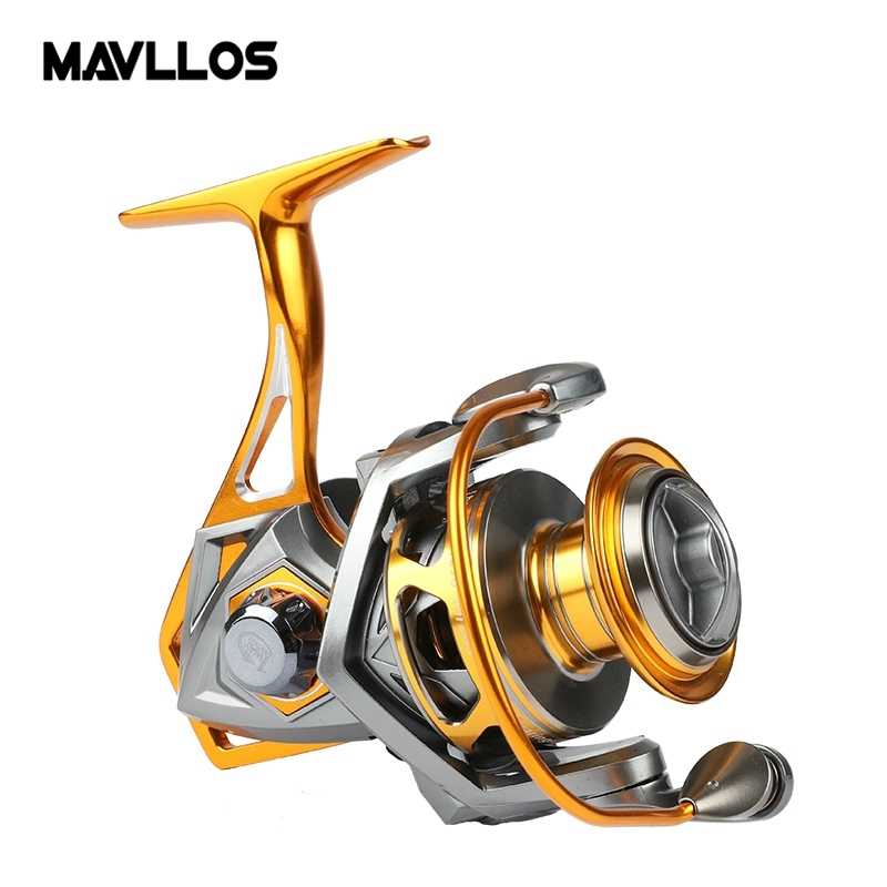 Mavllos Max Drag 20kg Salwater Fishing Jigging Reel 2500 to 5000s 10BB High Speed Reels Sea Waterproof Boat Fishing Reel saltwater reel jigging 15w 60lbs balanced drag offshore inshore sea game fishing silky smooth super light gomexus