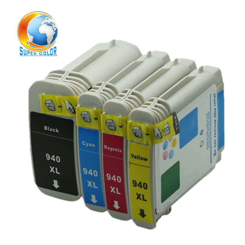 For HP 940 xl <font><b>940XL</b></font> C4906A C4907A C4908A C4909A with full ink compatible ink cartridge For HP Officejet Pro 8000 8500 image
