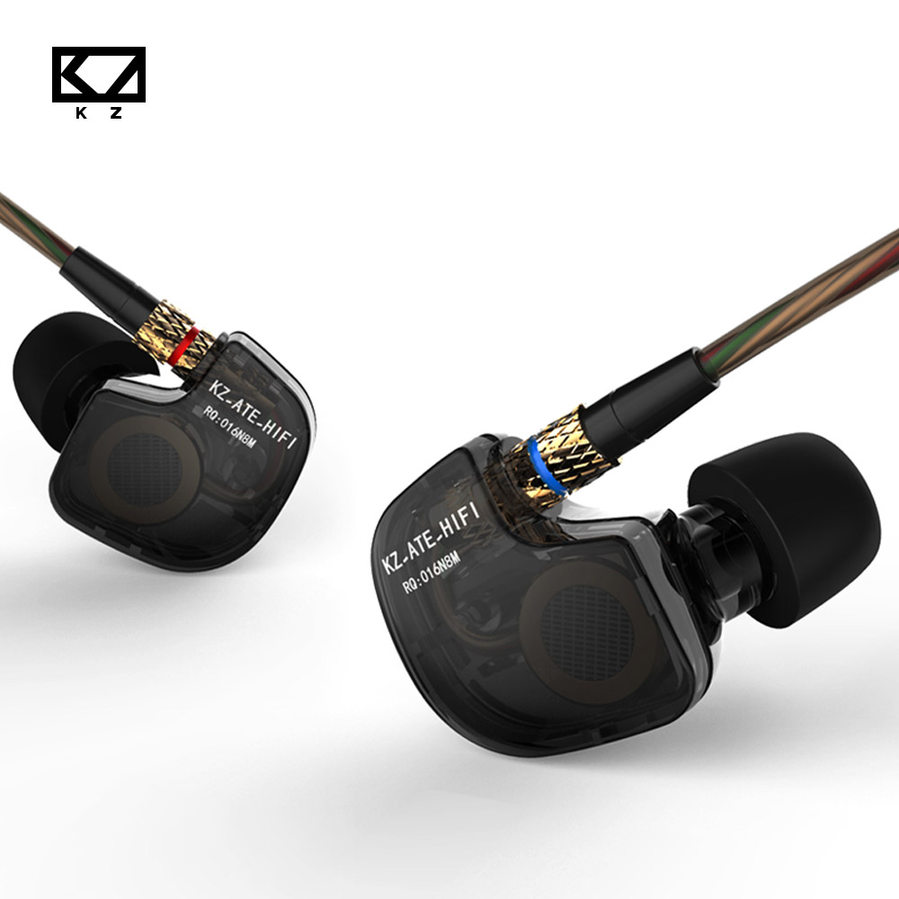 Original KZ ATE HIFI Metal Stereo Sports Earphones Metal auriculares Super Bass Headsets Portable For all phone fone de ouvido new headphones original kz ate s fone de ouvido hifi kz ate s stereo sport auriculares super bass noise canceling headphones