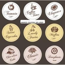 100pcs Custom logo made Round Stickers,Fruit Vegetable self adhesilve Label sticker with Customer logo
