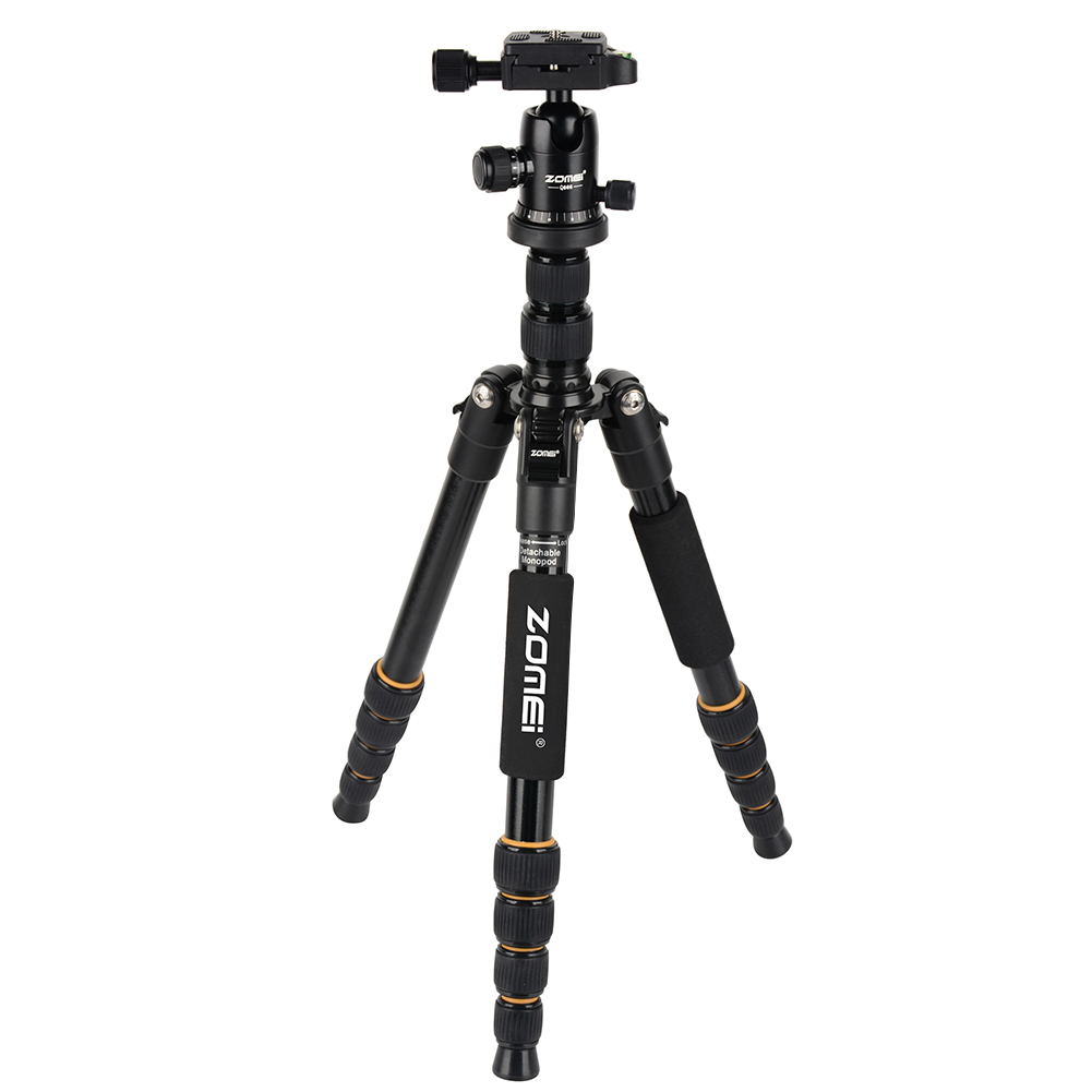 Portable Professional Travel Camera Tripod Aluminum Camera Stand Stabilizer Holder with 1/4 Screw Ball Head Quick Release Plate new professional portable travel aluminum camera tripod
