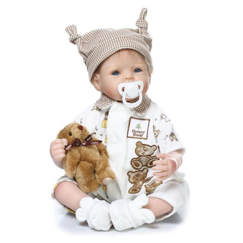 NPKCOLLECTION réaliste Reborn bébé poupée en Silicone souple Reborn poupées bébé réel mode nouveau cadeau pour les filles jouets nouveau-né bébés jouet