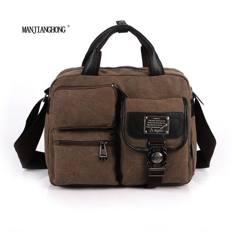 ФОТО 2017 High Quality new canvas bag handbag men women oblique satchel bags men messenger bag shoulder bagmore sturdy and durable