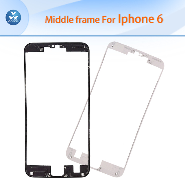 """10pcs/lot middle frame bezel for Apple iPhone 6 LCD screen holder bracket with hot glue black white 4.7"""" housing repair parts"""