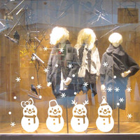 % New arrival cute snowman Snowflake Christmas window glass sticker xmas56 christmas party decoration store wallpaper kids gift