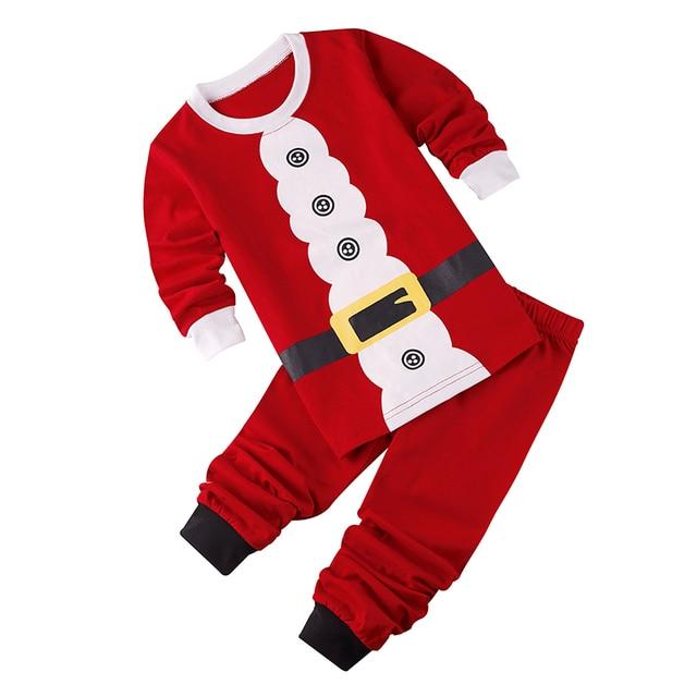 Familia Pijamas Para niños de Dibujos Animados Lindo de Papá Noel ...