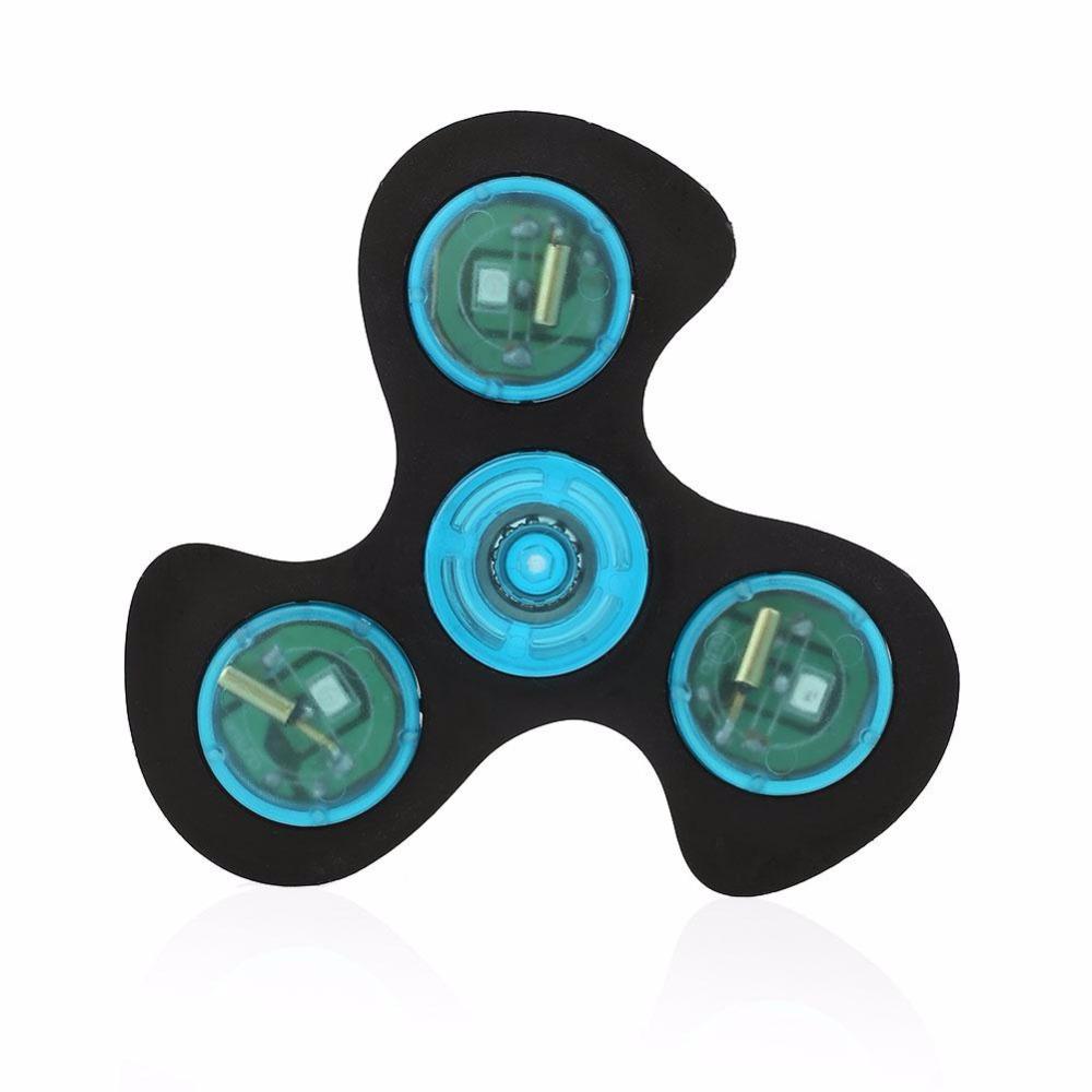 LED Light Fidget Spinner Hand Spinner  ABS Plastic Tri Spinner Glow In Dark Hand Spinner Fidget Toys Autism ADHD Kids