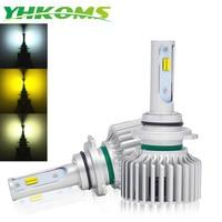 YHKOMS 9005 9006 Auto Fog Light 3000K Yellow H1 H3 H4 H7 H8 H9 H11 880