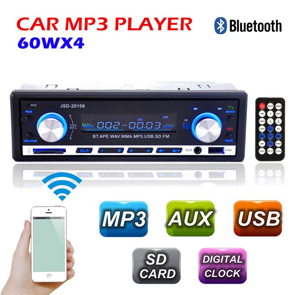 New 12V Car Radio BLUETOOTH Autoradio 1 Din Stereo FM Transmitter USB SD AUX font b