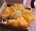 Желтый имбирь 100% Натурального Шелка Креп Долго чистый шелковый шарф креп шелковые шарфы для женщин весной и летом suncreen пашмины