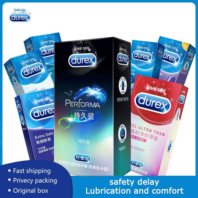 Durex spécial préservatif retard mélange Set Ultra-mince épais préservatifs pour hommes Nature Latex lubrifiant supplémentaire manchon de pénis produits sexuels sûrs
