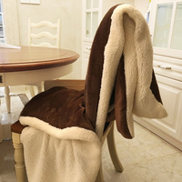Flannel Duvet Cover Blankets For Beds Sofa Plaid Winter Blanket Bedspread Christmas Plaid Fluffy Children Quilt