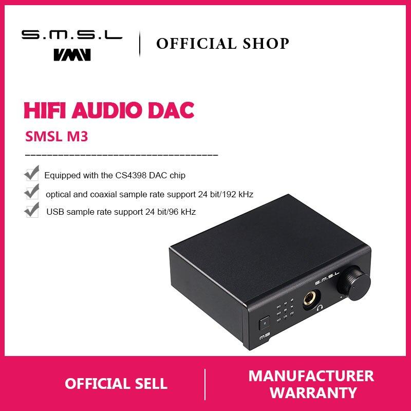 SMSL M3 Multi-funzione DAC All-in-one Cuffie Audio Decoder Amplificatore Alimentato Da USB Con USB in Fibra ottica di Ingresso Coassiale