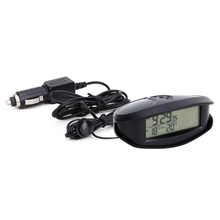 EC98 multi-function electronic voltmeter car inside and outside led double Thermometer two-color backlight converted