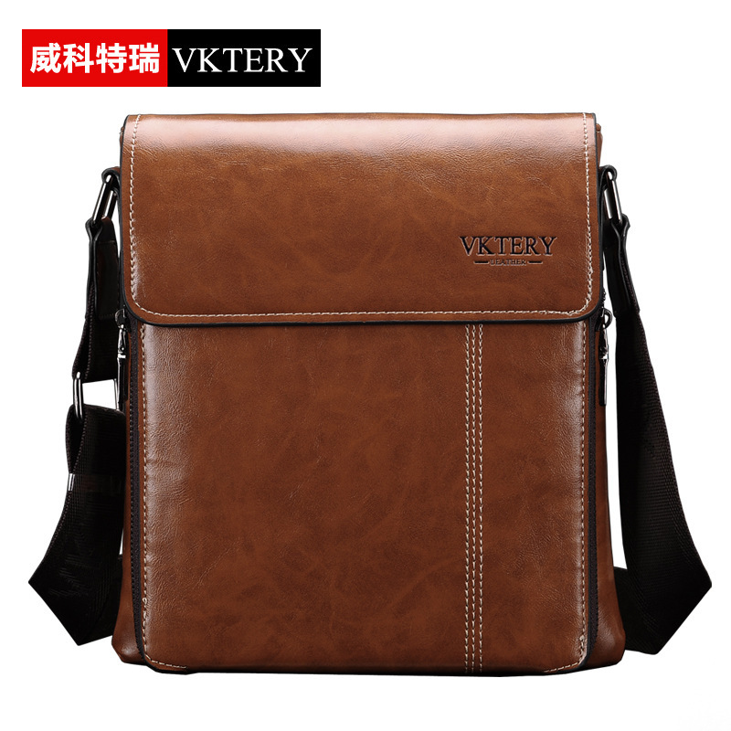 VKTERY Brand Fashion Men Casual PU Leather Messenger Bag Mens Business Shoulder Bag Travel Crossbody Bag Bolsas Male 2016 safebet brand crocodile pattern fashion men shoulder bags high quality pu leather casual messenger bag business men s travel bag