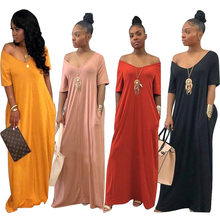 New style African Women clothing Dashiki fashion elastic cloth Pure color leisure long dress size S M L XL 2XL XXXL TS601(China)