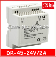 DR 45W 24V 2A Single Output Switching power supply for LED SMPS AC to DC
