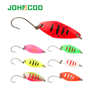 Metal Fishing Lure 1.5g 2g 3.5g 5g Spoon Spinner Copper Hard Bait Artificial