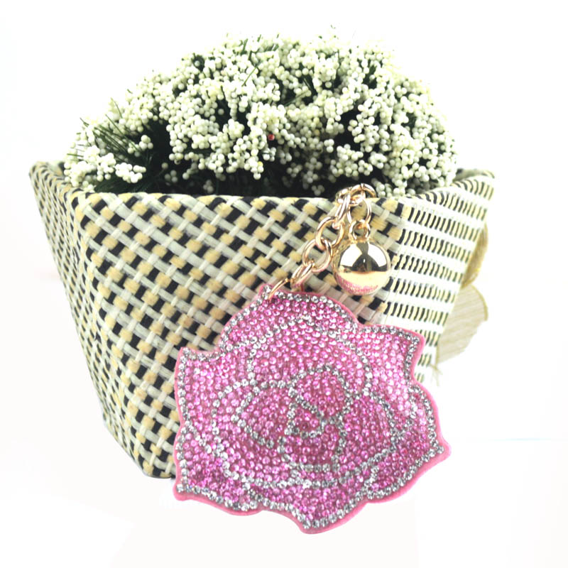 Cadeau de la Saint-Valentin multicolore strass rose clavier dames - Bijoux fantaisie - Photo 3
