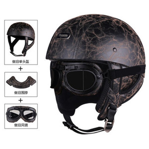Image 5 - 1 adet 57 62cm ABS plastik motosiklet Helm motokros Capacete yarım kask Retro mat parlak siyah