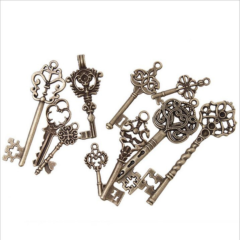 Vintage Wire Chain Jewelry Making Brass Chain Custom: Aliexpress.com : Buy 39pcs/lot Metal Mixed Styles Keys