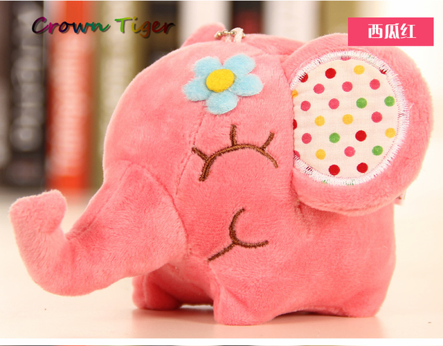 new Kawaii BIG Floral Elephant 12CM Approx. cute Plush DOLL Stuffed elephant TOY Sucker Car Room Window Pendant Bouquet TOY gift