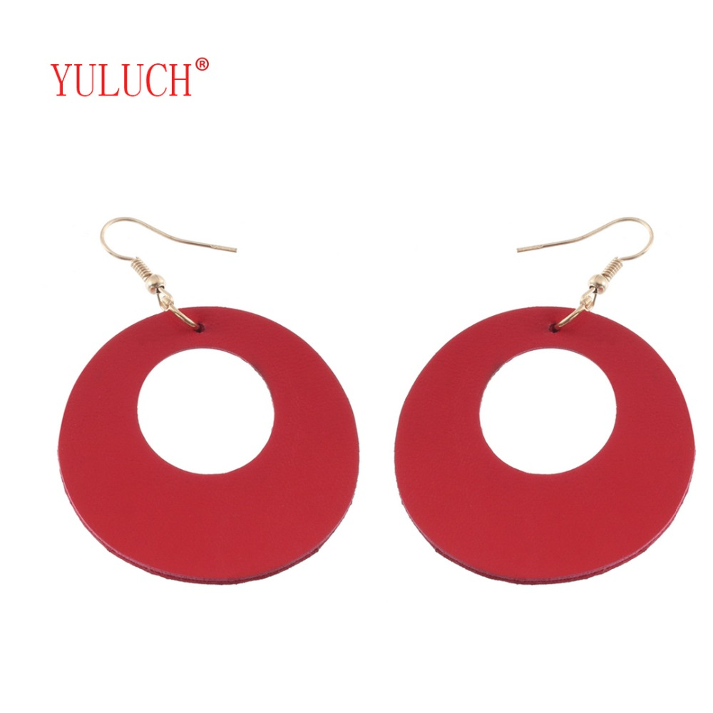 YULUCH 2018 Fashion Newly Launched Cork Hollow Round Drop Earrings for Womens Five Colors Elegant Jewelry Wedding Party D006