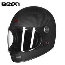 BEON Full Face Carbon Fiber Motocross Motorcycle Helmet Men Women Full Cover Off-road Racing Moto Helmets цена 2017