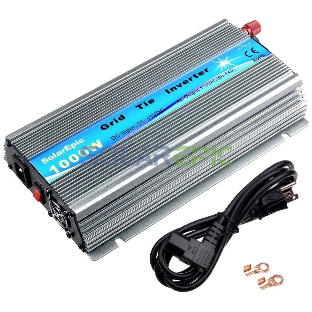цена на 1000W Grid Tie Inverter DC18V/24V/36V to AC110V/220V MPPT Pure Sine Wave Inverter Use For Solar Panel 1000W Inverter CE